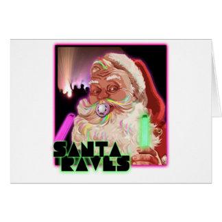Camisa del delirio de Papá Noel Felicitación