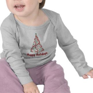 Camisa del día de fiesta del árbol de navidad