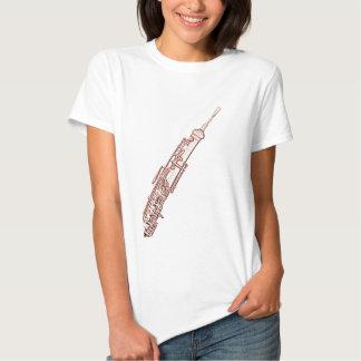 Camisa del dibujo de la tinta de Oboe Brown