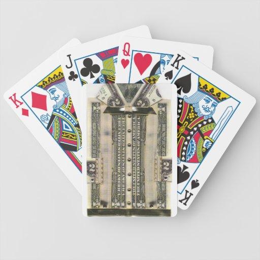 Camisa del dinero baraja de cartas
