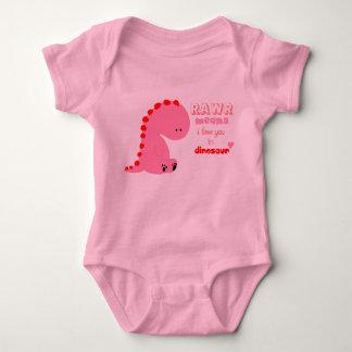 camisa del dinosaurio para el bebé