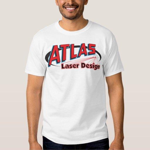 Camisa del diseño del laser del atlas - colores