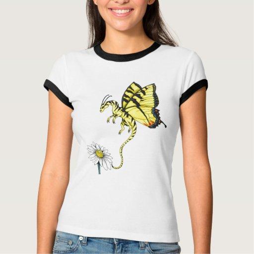 Camisa del dragón de la mariposa