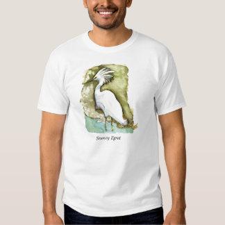 Camisa del Egret nevado
