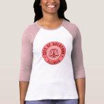 Camisa del emblema del béisbol del melocotón del K