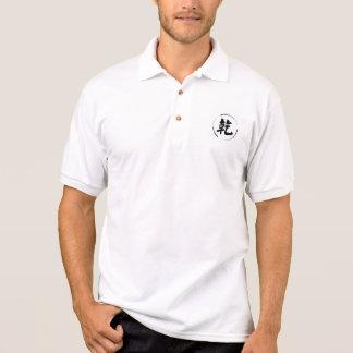 camisa del estilo polo de los hombres con símbolo