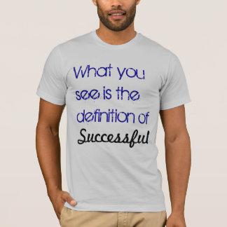 camisa del éxito