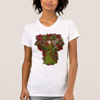 Camisa del Faery del navidad del Poinsettia