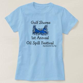 camisa del festival del derrame de petróleo.