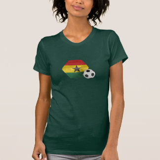 Camisa del fútbol de la bandera de Ghana