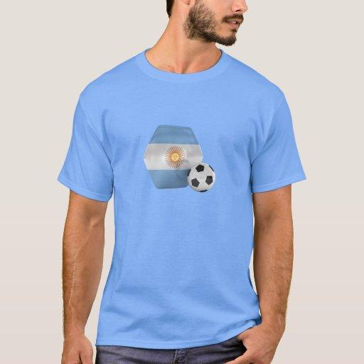 Camisa del fútbol de la bandera de la Argentina