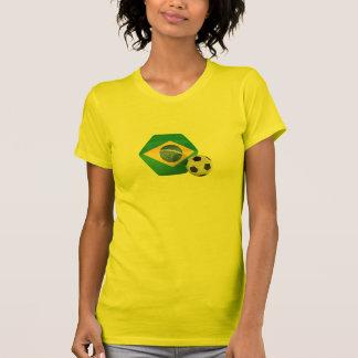 Camisa del fútbol de la bandera del Brasil