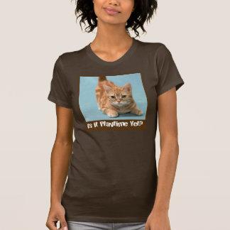 Camisa del gatito de la hora del recreo
