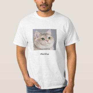 Camisa del gato de la respiración pesada