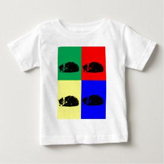 Camisa del gato de Tabby del arte pop