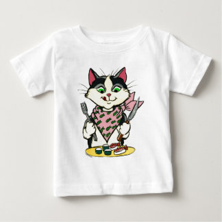 Camisa del gato del sushi