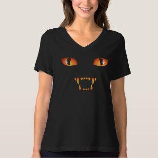 Camisa del gato negro del tamaño extra grande de