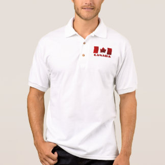Camisa del golf de Canadá del polo de la bandera d