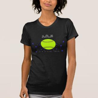 Camisa del gráfico del softball