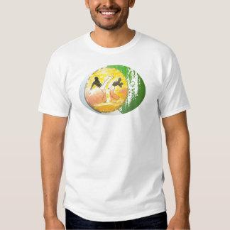 camisa del hacha del ginga del capoeira