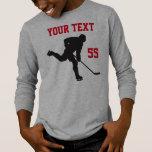 Camisa del hockey con el duende malicioso de