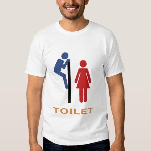 Camisa del humor del retrete
