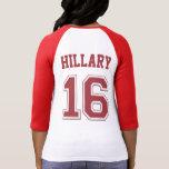 Camisa del jersey de equipo de Hillary 16 (roja)