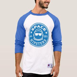Camisa del jersey de la manga del logotipo 3/4 de