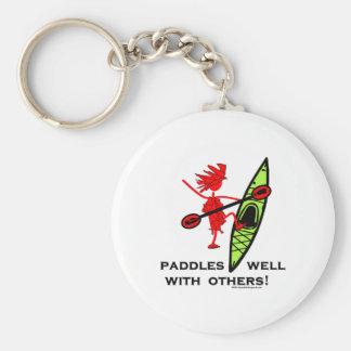 ¡Camisa del kajak, regalo del kajak, pegatina para Llavero Redondo Tipo Pin