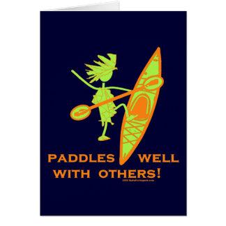 ¡Camisa del kajak, regalo del kajak, pegatina para Tarjetas