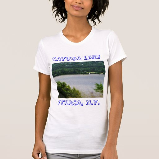 Camisa del LAGO del CAYUGA, ITHACA, N.Y.