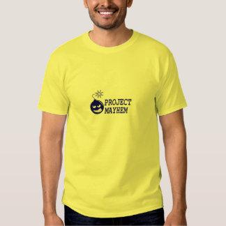 Camisa del logotipo de la mutilación del proyecto