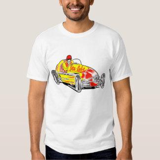 Camisa del logotipo del coche de carreras del