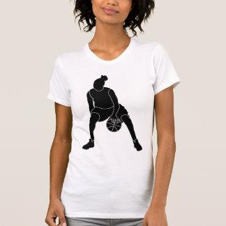 Camisa del logotipo del negro del chica del
