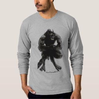Camisa del LS del hombre lobo