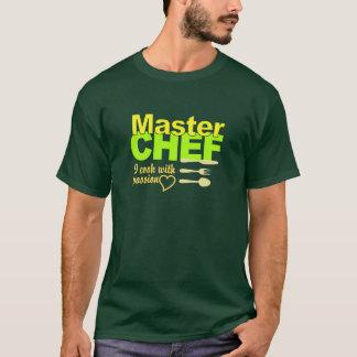 Camisa del maestro cocinero - elija el estilo y el