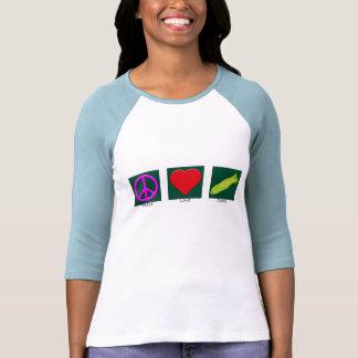 Camisa del maíz del amor de la paz