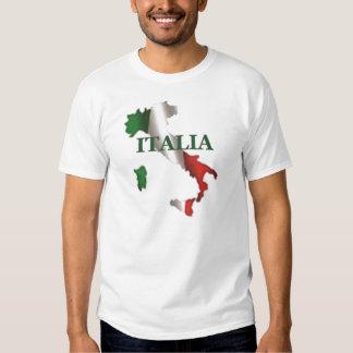 Camisa del mapa de Italia de los hombres