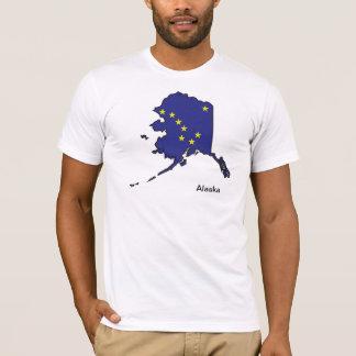 Camisa del mapa de la bandera de Alaska