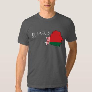 Camisa del mapa de la bandera de Bielorrusia