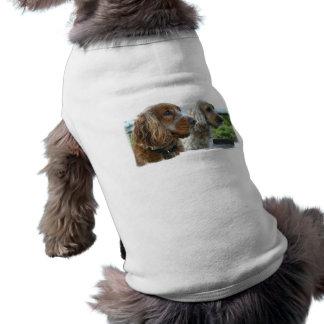 Camisa del mascota de cocker spaniel del inglés ropa de perro