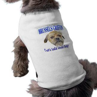 Camisa del mascota de Griffy Licker Playera Sin Mangas Para Perro