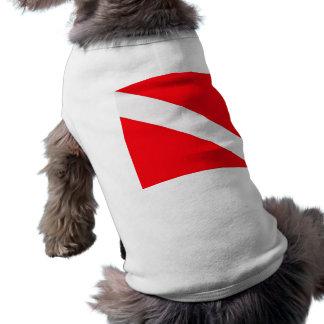 Camisa del mascota de la bandera de la zambullida playera sin mangas para perro