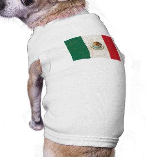 Camisa del mascota de la BANDERA MEXICANA Ropa Para Mascota