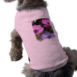 Camisa del mascota de la flor de la anémona ropa de perro