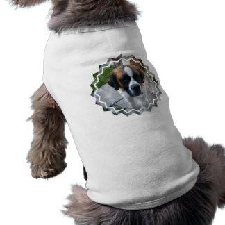 Camisa del mascota de la foto de St Bernard Camisetas De Mascota