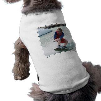 Camisa del mascota de la juventud de Wakeboarding Camiseta De Perro