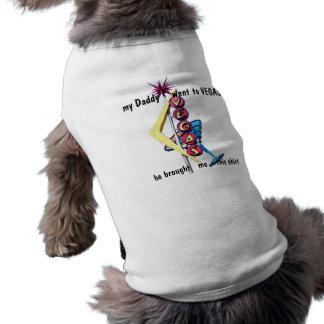 Camisa del mascota de Las Vegas Playera Sin Mangas Para Perro
