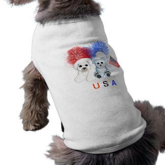 Camisa del mascota de los E.E.U.U. de Bichon Frise Camisas De Perritos