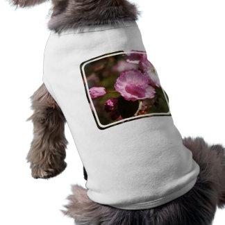 Camisa del mascota de los flores del cerezo camisetas de perrito